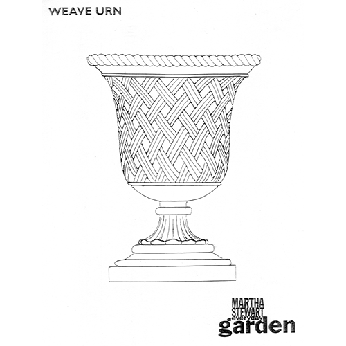 Martha Stewart Weave Urn Drawing