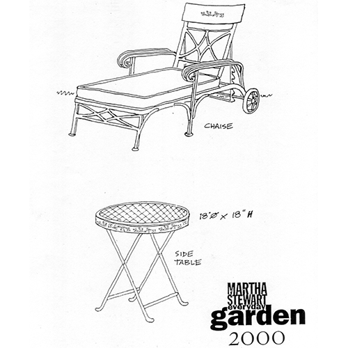 Martha Chaise and Table Drawing